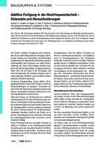 Additive Fertigung in der Hochfrequenztechnik –  Potenziale und Herausforderungen
