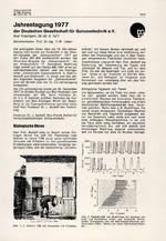Jahrestagung 1977 der Deutschen Gesellschaft für Galvanotechnik e.V.