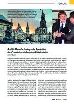 Additiv Manufacturing – die Revolution  der Produktherstellung im Digitalzeitalter