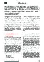 Pulsabscheidung von Katalysator-Nanopartikeln als Kathodenmaterial für die PEM-Brennstoffzelle (Teil 2)