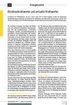 Blockheizkraftwerke und virtuelle Kraftwerke