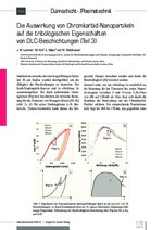 Die Auswirkung von Chromkarbid-Nanopartikeln  auf die tribologischen Eigenschaften  von DLC-Beschichtungen (Teil 3)