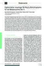 Eigenschaften neuartiger Nb-Nb2O5-Schichtsysteme für die Medizintechnik (Teil 1)