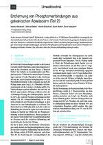 Entfernung von Phosphorverbindungen aus galvanischen Abwässern (Teil 2)