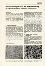 Untersuchungen über die Schichtbildung bei chemisch erzeugten Aluminium-Oxidschichten