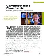 Umweltfreundliche Biokraftstoffe
