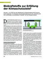Biokraftstoffe zur Erfüllung der Klimaschutzziele?