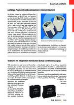 Leitfähige Polymer-Hybridkondensatoren in kleinerer Bauform