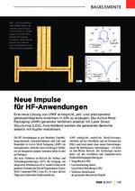 Neue Impulse für HF-Anwendungen