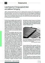 Laserbasierte Fertigungstechniken und additive Fertigung