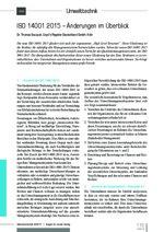 ISO 14001:2015 – Änderungen im Überblick