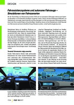Fahrassistenzsysteme und autonome Fahrzeuge –  Simulationen von Fahrszenarien