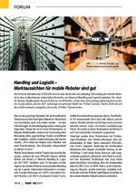 Handling und Logistik – Marktaussichten für mobile Roboter sind gut