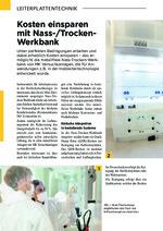 Kosten einsparen mit Nass-/Trocken-Werkbank