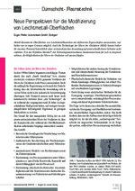 Neue Perspektiven für die Modifizierung von Leichtmetall-Oberflächen