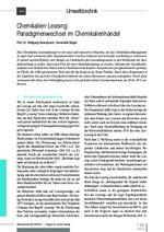 Chemikalien-Leasing:Paradigmenwechsel im Chemikalienhandel