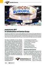 productronica 2017 im Schulterschluss mit Semicon Europa