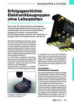 Erfolgsgeschichte: Elektronikbaugruppen ohne Leiterplatten