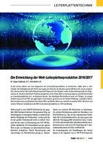 Die Entwicklung der Welt-Leiterplattenproduktion 2016/2017