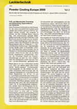 Powder Coating Europe2000 – Teil 2