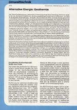 Alternative Energie: Geothermie