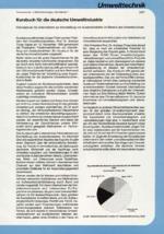 Kursbuch für die deutsche Umweltindustrie