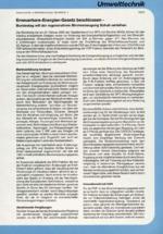 Erneuerbare-Energien-Gesetz beschlossen