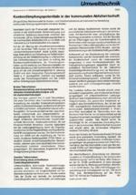 Kostendämpfungspotentiale in der kommunalen Abfallwirtschaft