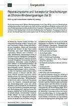 Reparatursysteme und -konzepte für Beschichtungen an Offshore-Windenergieanlagen (Teil 2)