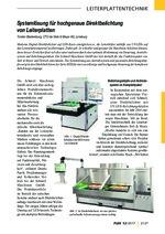 Systemlösung für hochgenaue Direktbelichtung von Leiterplatten