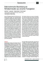Elektrochemische Abscheidung von Refraktärmetallen aus ionischen Flüssigkeiten