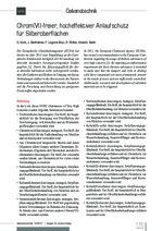 Chrom(VI)-freier, hocheffektiver Anlaufschutz für Silberoberflächen