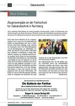 Zeugnisvergabe an der Fachschule für Galvanotechnik in Nürnberg