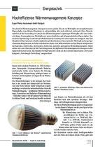 Hocheffiziente Wärmemanagement-Konzepte