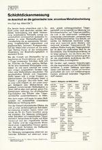 Schichtdickenmessung im Anschluß an die galvanische bzw. stromlose Metallabscheidung