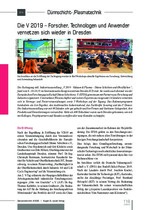 Die V 2019 – Forscher, Technologen und Anwender vernetzen sich wieder in Dresden