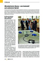Microelectronics Saxony – vom Automobil zum autonomen System