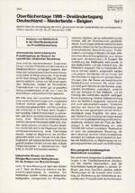 Oberflächentage 1999 - Dreiländertagung Deutschland - Niederlande - Belgien – Teil 2