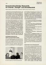Korrosionsbeständige Werkstoffe für Chemie-,Energie-und Umwelttechnik