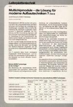 Multichipmodule – die Lösung für moderne Aufbautechniken ? – Teil 2