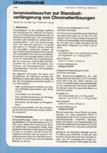Ionenaustauscher zur Standzeitverlängerung von Chromatierlösungen