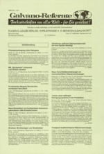 Galvano-Referate 10/1996