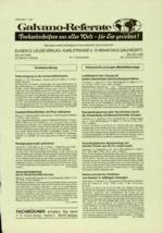 Galvano-Referate 12/1999
