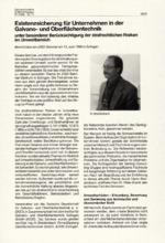 Existenzsicherung für Unternehmen in der Galvano- und Oberflächentechnik