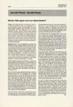 Aus der Praxis – für die Praxis 11/1996