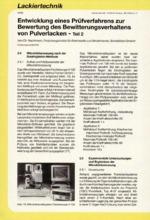 Entwicklung eines Prüfverfahrens zur Bewertung des Bewitterungsverhaltens von Pulverlacken – Teil 2