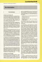 Zur Info - Lackiertechnik 11/1996