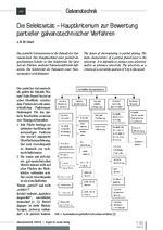 Die Selektivität – Hauptkriterium zur Bewertung partieller galvanotechnischer Verfahren