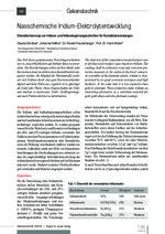 Nasschemische Iridium-Elektrolytentwicklung