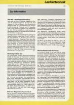 Zur Info - Lackiertechnik 02/2001